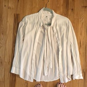 Women's button down with tie front